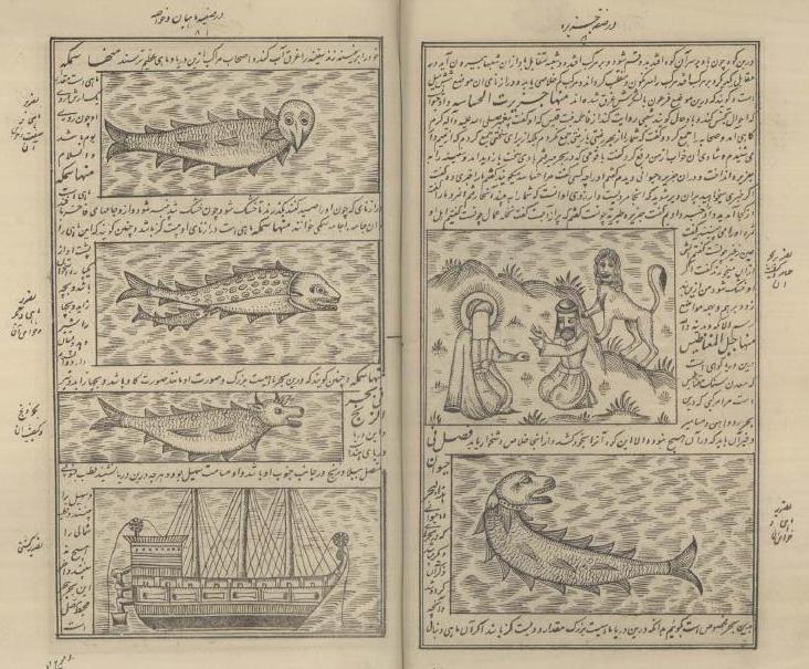 صفحه ای از کتاب عجایب المخلوقات