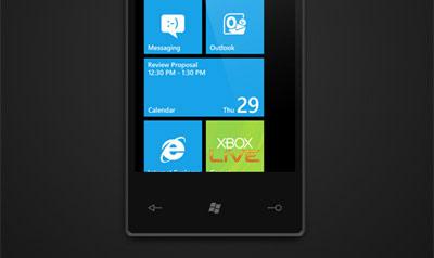 نمایی از Windows Phone 7