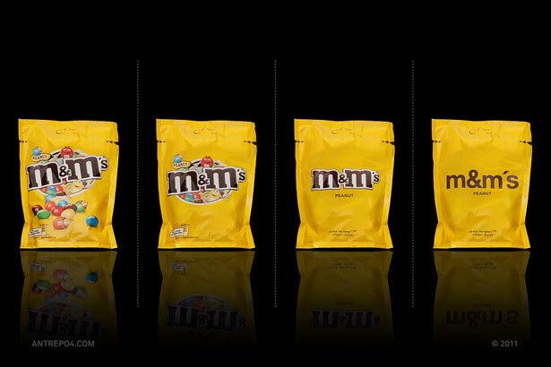 بسته بندی شکلات های m&m