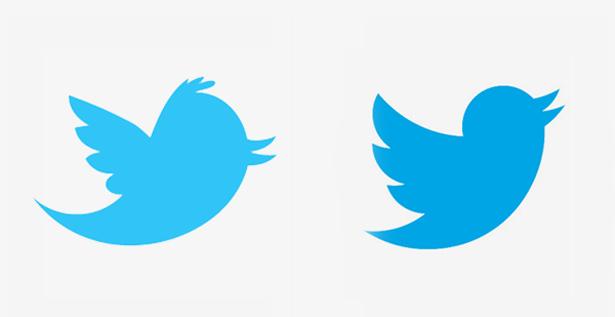 لوگوی جدید و قدیم تویتتر در کنار هم