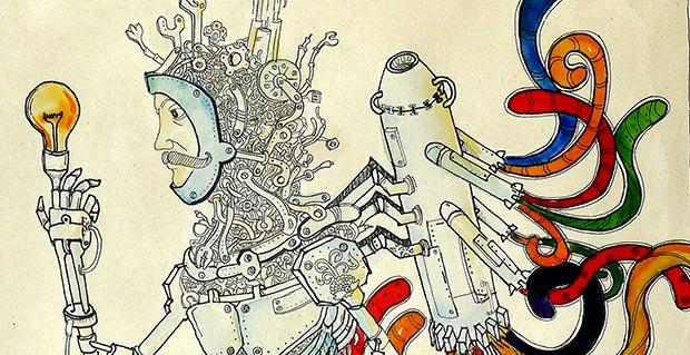تصویر سازی انسان ، صنعت و هنر - اثر : مهدی و هادی خدادادی