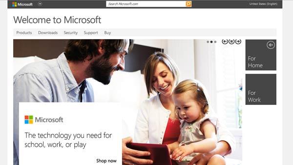 سایت جدید ماکروسافت