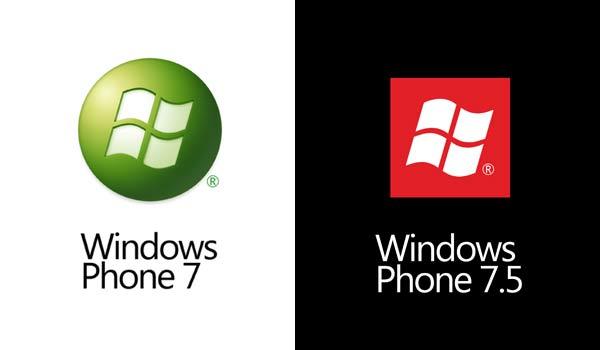 به ترتیب از چپ : لوگوی ویندوز فون 7 و لوگوی ویندوز فون 8